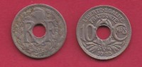 FRANCE, 1925, 1 Circulated Coin Of 10 Centimes. Copper Nickel  , KM866A, C2879 - France