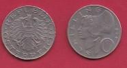 AUSTRIA, 1974, 1 Circulated Coin Of 10 Schilling, Copper Nickel,  KM2918, C2938 - Oostenrijk