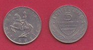 AUSTRIA, 1969, 1 Circulated Coin Of 5 Schilling, Copper Nickel,  KM2889a, C2942 - Oostenrijk