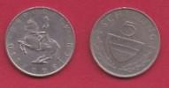 AUSTRIA, 1980, 1 Circulated Coin Of 5 Schilling, Copper Nickel,  KM2889a, C2944 - Oostenrijk