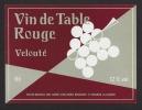 Etiquette De Vin De Table Rouge Années 60/70  -  Thème Grappe De Raisin  -  Barré J. M. à Saint Maurice La Clouère (86) - Golf