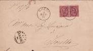 "Brief 1891 Von ""CHEDI"" Nach ""ISORELLA"" - 1878-00 Umberto I"