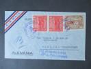 EL Salvador1939 Luftpostbeleg MiF. Siemens & Halske Berlin. Air Mail! Toller Beleg! Luftpoststempel / Wasserflugzeug - El Salvador