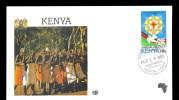 KENYA * FDC VISIT POPE JOHN PAUL II 1985 * DANCERS  * CONFERENCE RELIGION AND PEACE  - Kenya (1963-...)