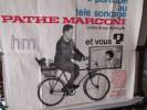 GRANDE AFFICHE DE PUBLICITE  pour PATHE MARCONI   1m10 X 1m30  PLIEE