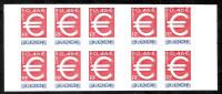France 1999 Bande Carnet BC3215A ** NsC MNH, Yv 3214 X10, BC A, Le Timbre EURO MH - Markenheftchen