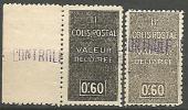 ALGERIE COLIS POSTAUX  N�  55  / VARIETEE 2 NUANCES  NEUF**  LUXE SANS CHARNIERE / MNH