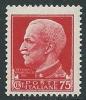 1929-42 REGNO IMPERIALE EFFIGIE 75 CENT MNH ** - IM2-6 - Mint/hinged