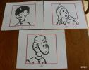 LOT DE 3 EX-LIBRIS TINTIN ~ HERGE MOULINSART 2011 / LE LOTUS BLEU, LE TEMPLE DU SOLEIL,  TINTIN EN AMERIQUE - Illustrateurs G - I