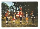 CPSM Folklore Pays Basque Groupe Folklorique Angeluarak Baso Dantza Danse Souletine Danse Du Verre - Costumi