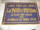 Tapis de jeu de cartes - Lisez tous les jours Le Petit Parisien le plus fort tirage des journaux du monde entier