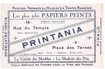 "BUVARD - Les Plus Jolis PAPIERS PEINTS ""PRINTANIA"" - Peintures"