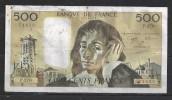 Billet 500 Francs Pascal. A-3.3.1988. - 1962-1997 ''Francs''