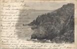 N° 145-LA POINTE DU RAZ - LE MOINE VU DE L EXTREME POINTE(region D'audierne)CARTE BI-LINGUE DU 5-3-1903--VOIR SCANES -- - La Pointe Du Raz