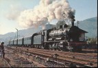 "Locomotive 140 C 27 ( Tender 34 X 131 ) De La CITEV  En Tete De La Rame "" De Boites - Tonerres "" Le 1/11/82  A Schirmeck - Trains"