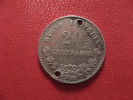 Italie - 20 Centesimi 1863 MBN Emanuele II - Trouée 1319 - 1861-1946 : Kingdom