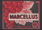 Etiquette De Vin De Table Superieur Années 40/60  -   Marcellus   -  Thème Grappe De Raisin  - - Etiquettes