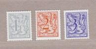 1978 Nr 1902-04P7** Zonder Scharnier.Cijfer Op Heraldieke Leeuw.P7:Typo Papier.Blauwe Gom. - Unused Stamps