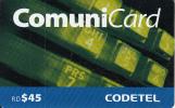 DOMINICANA  - CODETEL Prepaid Card RD$45(thin), Used