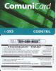 DOMINICANA  - CODETEL Prepaid Card RD$95(thin), Used