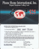 PUERTO RICO - World Map, P.H.I.I. Prepaid Card(plastic) $25, Used