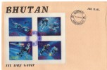 "BHOUTAN - FDC - 3 BLOCS  ""1967""  ESPACE (space) - Bhutan"