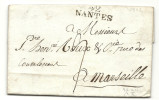 Loire Inférieure - Nantes Pour Un Négociant à Marseille. LAC De L'An X De La République - 1801-1848: Precursors XIX
