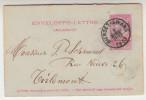 Omslagbrief, Enveloppe Lettre 10c Leopold II, Bierset Awans Naar Tirlemont (pk25000) - 1893-1900 Fine Barbe