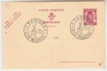 Briefkaart, Carte Postale, Postkaart 65c Speciale Stempen Tamines, Cite Meurtrie 19 Aout 1947 (pk25004) - Entiers Postaux