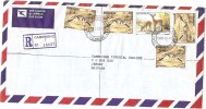 LBL33D2 - BOTSWANA  LETTRE  RECOMMANDEE DE DECEMBRE 1989 - Botswana (1966-...)