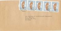LBL33D2 - BOTSWANA  LETTRE   DE MAI 1991 2 TIMBRES DEFECTUEUX - Botswana (1966-...)