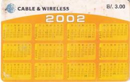 PANAMA(chip) - Calendar 2002(B/. 3.00), Chip GEM3.3, Used - Panama