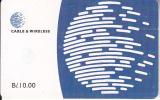 PANAMA(chip) - Blue Globe(B/. 10.00), Chip GEM3.3, Used - Panama