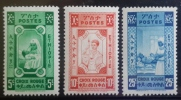 E11l ETHIOPIA 1936 Mi I-II-III MH * NURSES 3 Stamps - Set Non Issued. Mentionned In Michel - Ethiopia