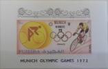 E11l FUJEIRA 1972 Block , S/S, M/S, Souvenir Sheet - Munich Olypic Games - MNH - Fujeira