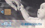 PERU - Baby Shaking Hand, BellSouth Telecard, Chip GEM1a, Tirage %10000, 03/00, Used - Peru