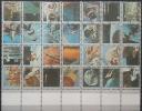 E11l UMM AL-QIWAIN 1973 Mi. 859-886 Space Exploration Cplt Sheet 28v. KLEINFORMAT Limited Edition 17x22mm Very Small - Ajman