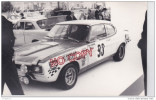 Au Plus Rapide Photo Format Carte Photo Salon De Paris 1970 Ford Capri Piot Behra - Auto's