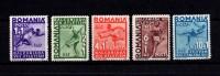Romania 1937, Michel 538-42,   **/MNH - Ongebruikt