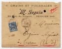1899 - ENVELOPPE COMMERCIALE De BEGLES (GIRONDE) Avec SAGE - Marcophilie (Lettres)