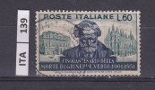ITALIA, 1951, G. Verdi 60 Lire, Usato - 1946-60: Used