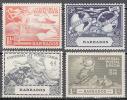 Barbados    Scott No.  212-15    Unused Hinged     Year 1949 - Barbados (1966-...)