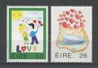 IRLANDE 1991 N° 747/748 ** * N° 748 * Neufs  Superbes Cote 3 € Messages D'amour Casquette Sac Postal Coeurs - 1949-... República Irlandése