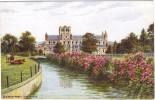 Buckfast Abbey, North View By A R Quinton Colour Postcard - J Salmon - No Number - Quinton, AR