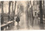 92 - ASNIERES - INONDATION De 1910 - CRUE De La SEINE - RUE De BRETAGNE   Neuve Excellent état - Asnieres Sur Seine