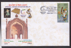 India  2010   Chess Board  Tiger Muscat  Imambara Rumi Gate  Dancer  LUCKNOW  Baton Relay Cover  # 66850  Inde Indien - Chess