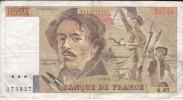 BILLETE DE FRANCIA DE 100 FRANCOS DEL AÑO 1984 DE DELACROIX SERIE M (BANKNOTE) - 1962-1997 ''Francs''