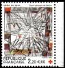 France N° 2449,a,**  Croix Rouge - Vitrail - Eglise St Jacques De Reims, Bdf De Carnet Droit - France