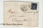 1881 - N° 90 TYPE SAGE - ERREUR FAUTE - SUR CAD TYPE 17 - LE 8 ET LE 1 DE L ANNEE SONT A L ENVERS - LYON CARPENTRAS LAC - Marcophilie (Lettres)