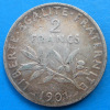 2 francs semeuse argent 1901 cote TB 12€